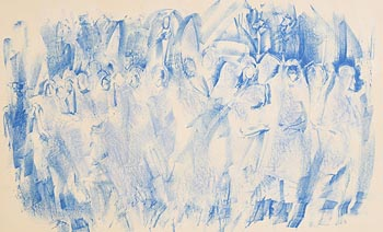 Louis Le Brocquy, Procession (1986) at Morgan O'Driscoll Art Auctions