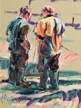 Arthur K. Maderson, Two Figures, Evening Light, Tallow Horse Fair at Morgan O'Driscoll Art Auctions