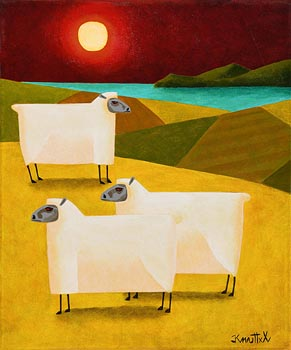 Graham Knuttel, Red Eyed Sheep at Morgan O'Driscoll Art Auctions