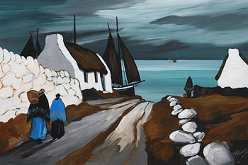 J.P. Rooney, Heading Down to the Shore at Morgan O'Driscoll Art Auctions