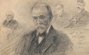 John Butler Yeats, Lord Alderman Cotton - MP of South Dublin (1906) at Morgan O'Driscoll Art Auctions