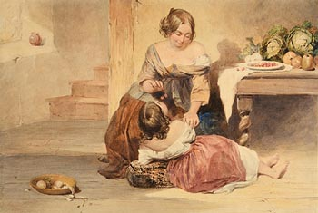 Alfred Downing Fripp (1822-1895), Mother Feeding her Daughter Cherries at Morgan O'Driscoll Art Auctions