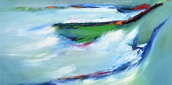Majella O'Neill Collins, Flying Over the Cliffs of the Dock Sherkin (2014) at Morgan O'Driscoll Art Auctions