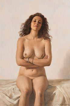 Harry Holland, Sated Female Nude at Morgan O'Driscoll Art Auctions