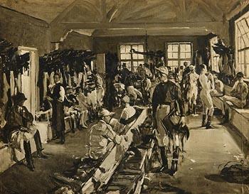 Sir John Lavery, The Jockeys Dressing Room at Ascot at Morgan O'Driscoll Art Auctions