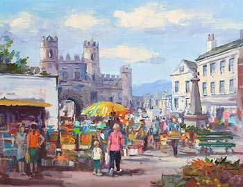 Joop Smits, Market Day, Macroom, Co Cork at Morgan O'Driscoll Art Auctions
