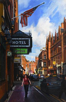 Oisin Roche, Exchequer Street, Dublin (2010) at Morgan O'Driscoll Art Auctions