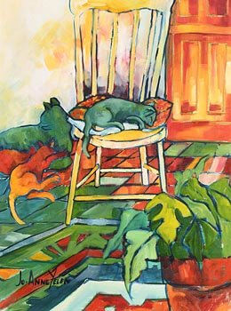 Jo Anne Yelen, Lazy Days at Morgan O'Driscoll Art Auctions