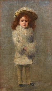 Richard Thomas Moynan, Bridget with a Muff at Morgan O'Driscoll Art Auctions