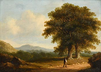 James Arthur O'Connor, Figure on a Country Road (1839) at Morgan O'Driscoll Art Auctions