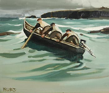 Cecil Maguire, Home to Inishmaan (1979) at Morgan O'Driscoll Art Auctions