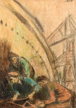 William Conor, Men of Steel at Morgan O'Driscoll Art Auctions