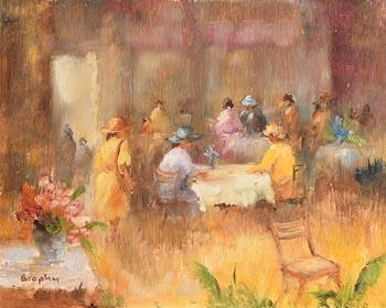 Elizabeth Brophy, Afternoon Tea at Morgan O'Driscoll Art Auctions
