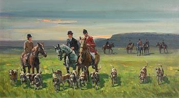 Robert Taylor Carson, Hunting in Co. Limerick (1974) at Morgan O'Driscoll Art Auctions