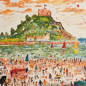 Simeon Stafford, St Michaels Mount, Cornwall at Morgan O'Driscoll Art Auctions
