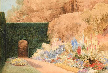 Mary Georgina Barton, The Garden St. Anne's, Clontarf Dublin at Morgan O'Driscoll Art Auctions