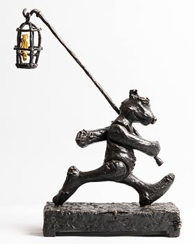 Patrick O'Reilly, Bear with Bird at Morgan O'Driscoll Art Auctions