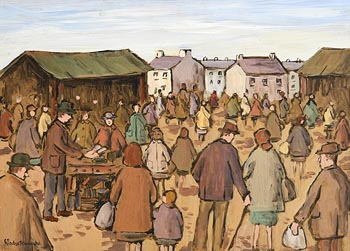 Gladys MacCabe, The Market at Morgan O'Driscoll Art Auctions