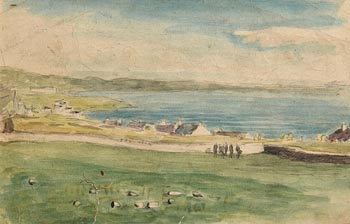 John Butler Yeats, Village on Achill at Morgan O'Driscoll Art Auctions