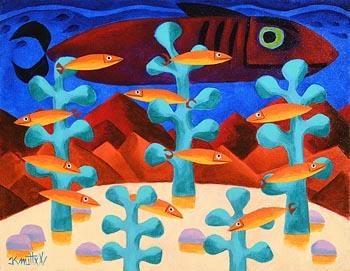 Graham Knuttel, Coral Sea at Morgan O'Driscoll Art Auctions