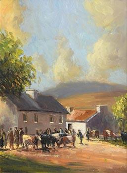 Norman J. McCaig, Cattle Fair at Morgan O'Driscoll Art Auctions