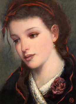 Ken Hamilton, Girl with Ribbon in her Hair at Morgan O'Driscoll Art Auctions