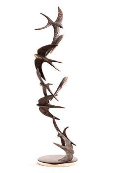 Colm J. Brennan, Swifts in Flight at Morgan O'Driscoll Art Auctions