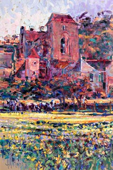 Arthur K. Maderson, April Evening, Saint-Amand-De-Coly at Morgan O'Driscoll Art Auctions