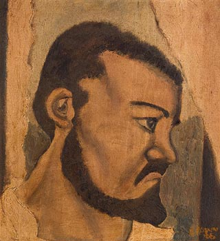 Christy Brown, Self Portrait (1966) at Morgan O'Driscoll Art Auctions