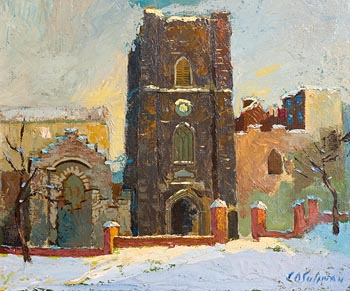 Sean O'Sullivan, St. Audeon's Under Snow at Morgan O'Driscoll Art Auctions
