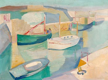 Father Jack P. Hanlon, Boats in the Afternoon (1943) at Morgan O'Driscoll Art Auctions
