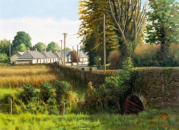 Eugene Conway, Houses at Castlecomer at Morgan O'Driscoll Art Auctions