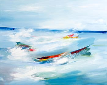Majella O'Neill Collins, Rough Seas Sherkin (2018) at Morgan O'Driscoll Art Auctions
