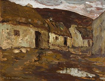 Paul Henry, Thatched Cottages (1915-16) at Morgan O'Driscoll Art Auctions