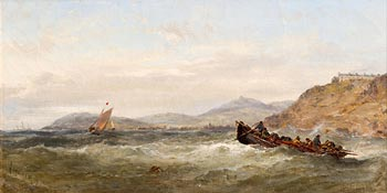 Edwin Hayes, Battling the Swell (1875) at Morgan O'Driscoll Art Auctions