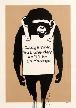 Banksy, Laugh Now 2003 at Morgan O'Driscoll Art Auctions