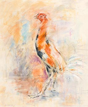 Basil Blackshaw, Cockerel at Morgan O'Driscoll Art Auctions