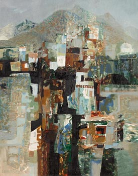 George Campbell, Mountain Village, Tenerife at Morgan O'Driscoll Art Auctions