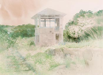 Terence P. Flanagan, Dromahair Signal Box at Morgan O'Driscoll Art Auctions