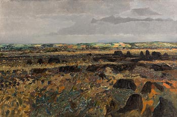Colin Middleton, The Garry Bog, Portrush (1958) at Morgan O'Driscoll Art Auctions