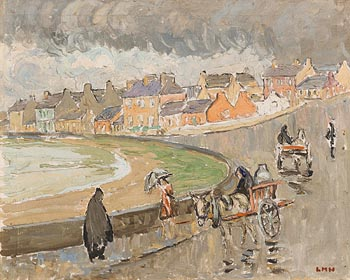 Letitia Marion Hamilton, Rain at Kilkee. Co. Clare (1948) at Morgan O'Driscoll Art Auctions