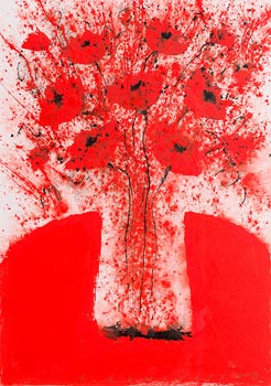 Neil Shawcross, Poppies in a Vase (2008) at Morgan O'Driscoll Art Auctions
