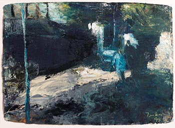 Donald Teskey, Night Walkers (1998) at Morgan O'Driscoll Art Auctions