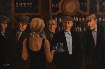 Ted Jones, Friendly Banter at Morgan O'Driscoll Art Auctions