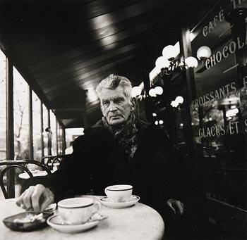 John Minihan, Samuel Beckett Seated in a Cafe, Paris 1985 at Morgan O'Driscoll Art Auctions