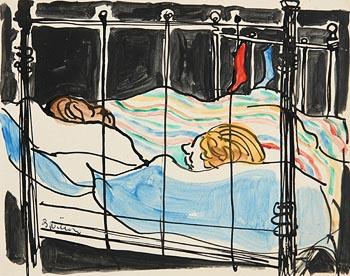 Gerard Dillon, Sleeping Figures at Morgan O'Driscoll Art Auctions
