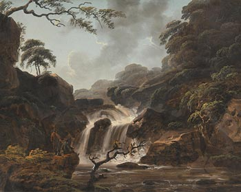 Thomas Walmsley, View of Cora Lynn at the Middle Falls of the Clyde at Morgan O'Driscoll Art Auctions