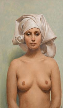 Harry Holland, White Head Scarf at Morgan O'Driscoll Art Auctions