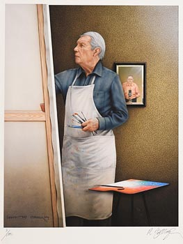 Robert Ballagh, Louis Le Brocquy in his Studio at Morgan O'Driscoll Art Auctions