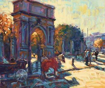 Norman Teeling, St. Stephen's Green, Dublin at Morgan O'Driscoll Art Auctions